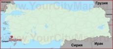 Дидим на карте Турции