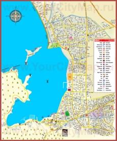 Туристическая карта Фетхие с достопримечательностями