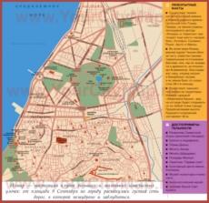 Карта Измира на русском языке