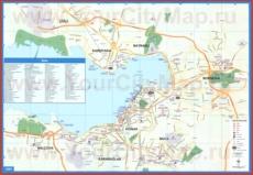 Карта побережья Измира