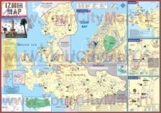 Туристическая карта Измира с окрестностями