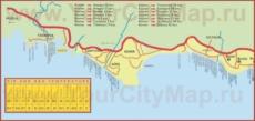 Карта Кемера с окрестностями