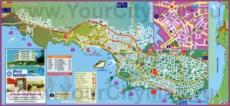 Подробная туристическая карта города Кушадасы
