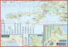 Карта побережья Мармариса с окрестностями