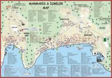 Туристическая карта Мармариса с отелями