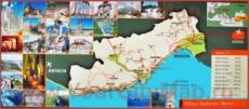 Туристическая карта побережья Мерсина с окрестностями