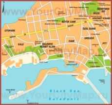 Подробная туристическая карта города Синоп