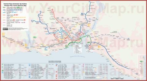 Карта-схема метро Стамбула