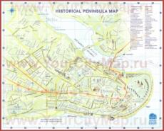 Туристическая карта Стамбула с районами и достопримечательностями