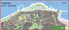 Подробная туристическая карта города Трабзон