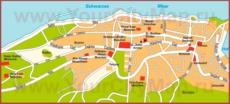 Туристическая карта Трабзона с достопримечательностями