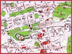 Карта Эдинбурга с достопримечательностями