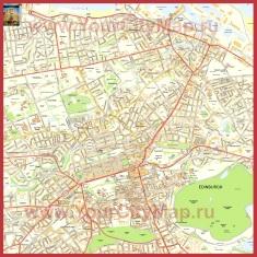 Подробная карта города Эдинбург