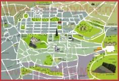 Туристическая карта центра Эдинбурга