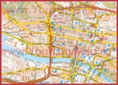 Карта города Глазго с достопримечательностями