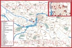 Карта отелей Глазго