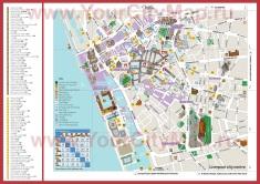Карта Ливерпуля с отелями и достопримечательностями