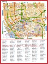 Карта Ливерпуля с улицами