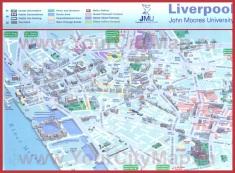 Туристическая карта Ливерпуля с достопримечательностями