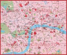 Карта Лондона с районами