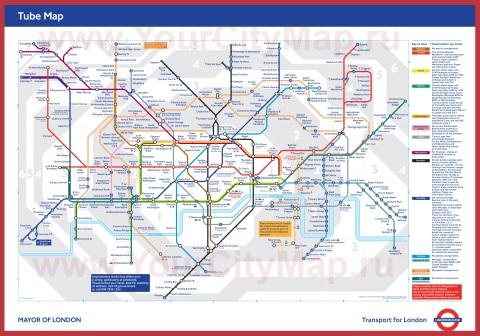 Карта метро Лондона - схема