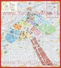 Карта Манчестера с достопримечательностями и отелями