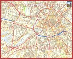 Подробная карта города Манчестер
