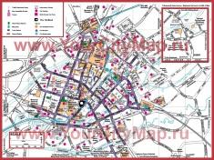 Туристическая карта Манчестера